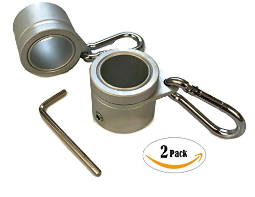 Pole Mounting Clips (Aluminum Flagpole Rotating Rings - 2 Pack - 1