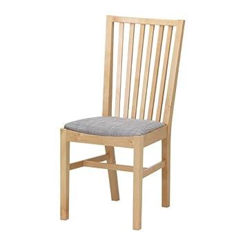 Ikea Norrnas Chair Birch Isunda Grey Amazoncouk Kitchen Home