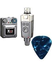 Xvive U4 Sistema de monitor inalámbrico in-ear profesional IEM System Transmisor y receptor de cinturón para estudio, ensayo de banda, rendimiento en vivo, grabación de cámara con púas de guitarra HogoR