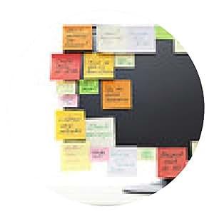 alfombrilla de ratón Notas de papel sobre monitor del ordenador - ronda - 20cm