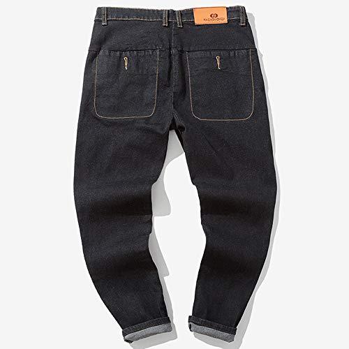 Liuchehd Uomo Casual Fori Fit Strappati Nero Sportiva Straight 2018 Leggermente Slim Pantaloni nuovo Pocket Stile Jeans Denim rHtrw
