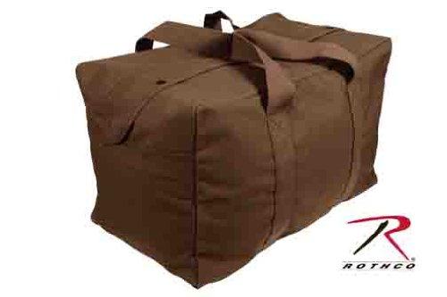 Rothco Canvas Parachute Cargo Bag, Earth Brown (Brown Canvas Bag)