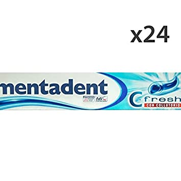 Set 24 MentaDENT Dentifricio C-Fresh Con COLLUT.75 Ml. Hautpflege