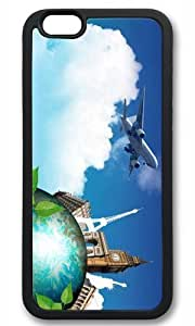 Aircraft and Eiffel Thanksgiving Halloween Masterpiece Limited Design tpu black Case for iphone 6 by Cases & Mousepads