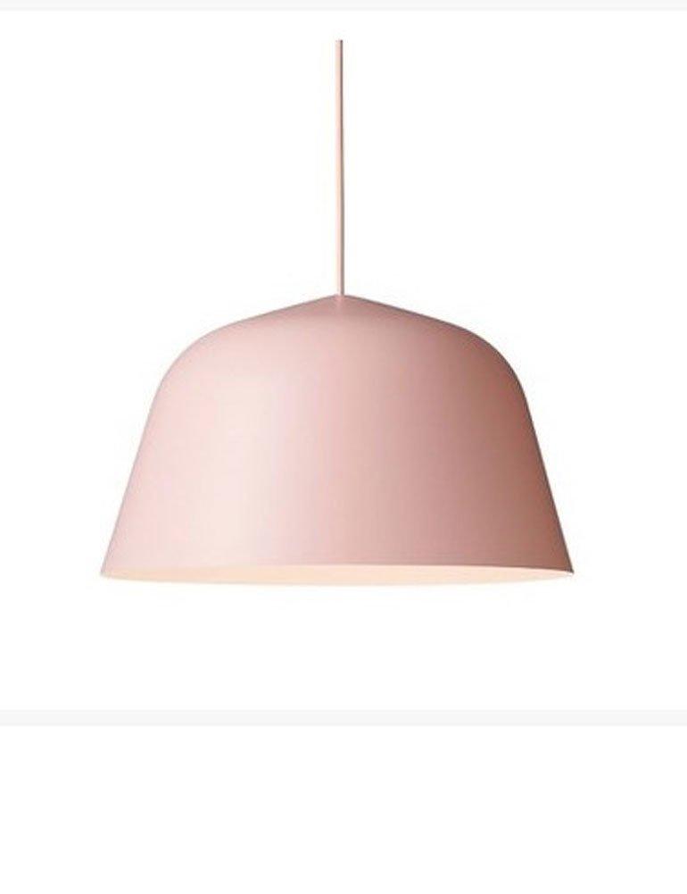 Cozyle Nordic Modern Color Semicircular Aluminum Hanging Light Pendant Lamp Shade Pink 40cm