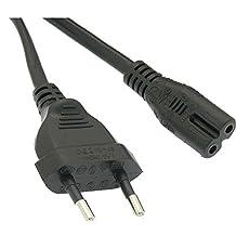 InstallerParts 6Ft European Plug 2-Prong Figure-8 (Non-polarized) Power Cord
