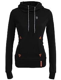 DOKER Women's Fashion Funnel Neck Hoodie Pullover Sweatshirt