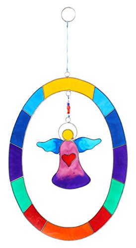 Sun Catcher Colorful Hanging Angel Oval Shabby Chic Home Gift