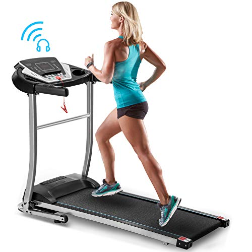 Merax Folding Electric Treadmill Motorized Running Machine Easy Assembly Electric Treadmills for Home, Motorized Fitness Compact Running Equipment with LCD for Home...