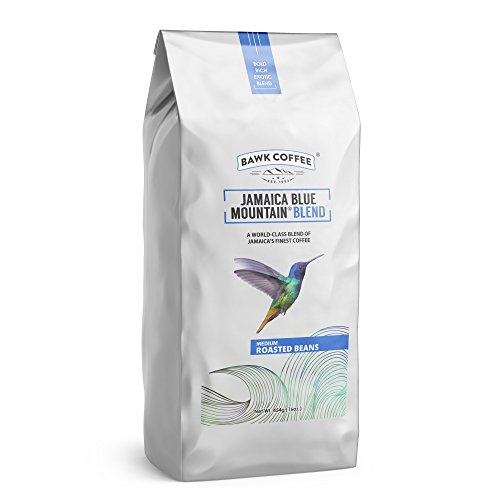 """Jamaica Blue Mountain Coffee Blend – """"Medium"""" Roasted Beans (16oz.) (Pack of 6) by BAWK Coffee (Image #1)"""
