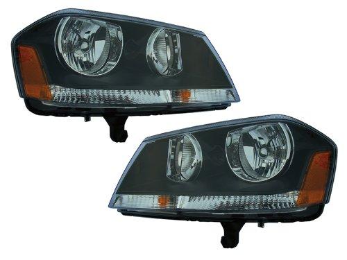 dodge-avenger-rt-new-black-headlights-set-headlamps-pair