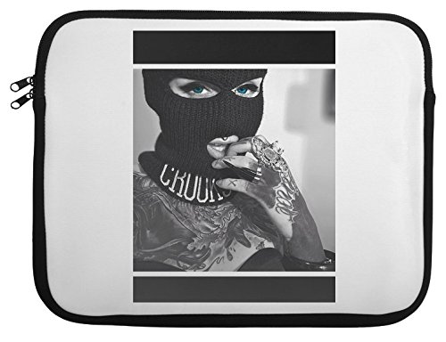 Sexy Robber Mask Girl Laptop Case 15