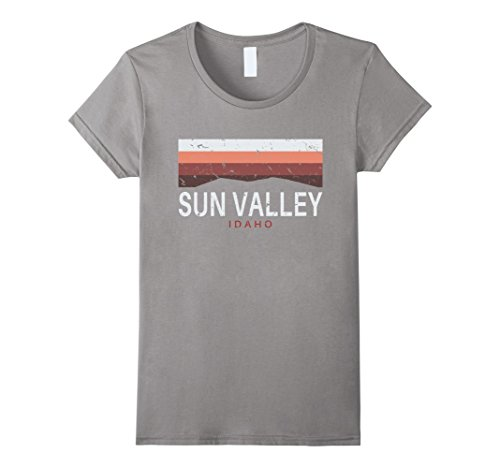 Women's Sun Valley Idaho T Shirt Mountains ID Souvenir Me...