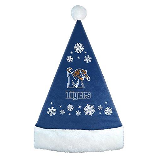 NCAA Minnesota Golden Gophers Snowflake Santa Hat, Black, 17.25