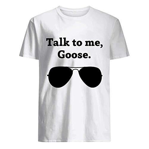 USA 80s TEE Talk to Me, Goose Shirt White -