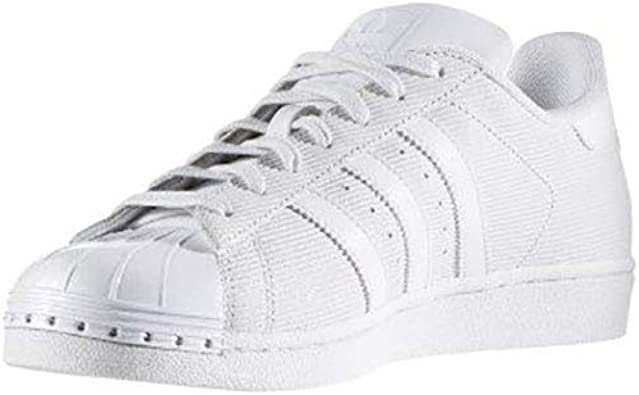 adidas Mens Superstar Lace Up Sneakers Shoes Casual - White