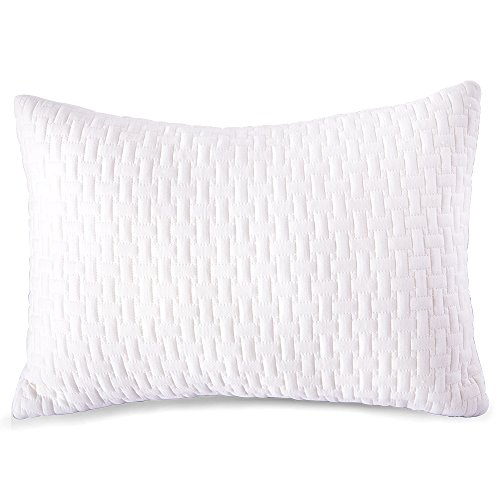 Sable Shredded Memory Foam Pillow with Thickened Bamboo Pillowcase for Sleeping , CertiPUR-US & FDA Registered w/Home…