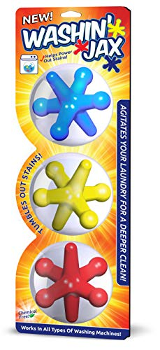 Washin' Jax Laundry Agitators | Chemical Free, Silicone Based Jax Enhance Cleaning Power of Your Washes | Unique Shape Allows For Better Clean When Compared to Agitation Balls ()