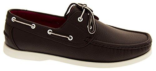Blanca Marron Sintético zapato Suela barco Shoreside Hombre T4CwqTS