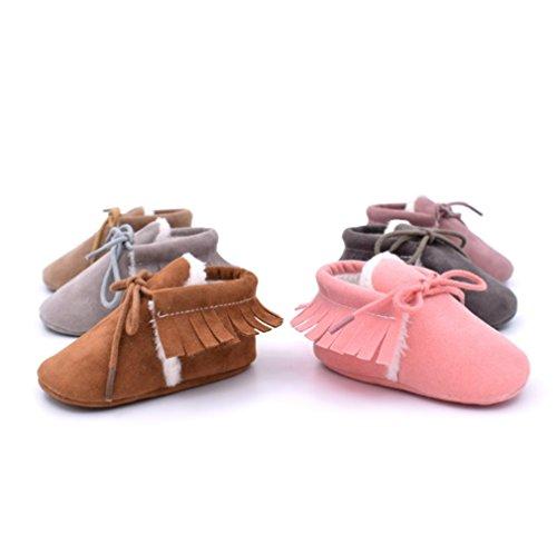 Summens Babyschuhe Mädchen 0-12Monate Lauflernschuhe Krabbelschuhe Schmetterling Weicher Hausschuhe Pink