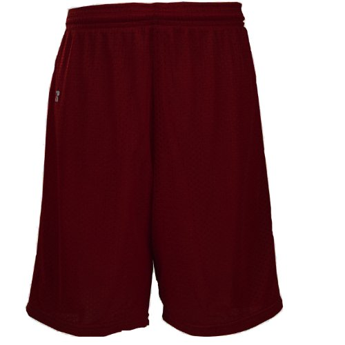 - Russell Athletic Youth Mesh Shorts, Maroon, YS