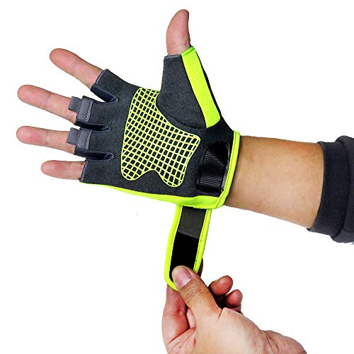 Weightlifting Gloves,Support for Gym Workout, Weightlifting, Fitness & Cross Training - Best for Men and Women Who Love Weight Lifting,Breathable Full Palm Protection, Quality Gear 1 Year Warranty