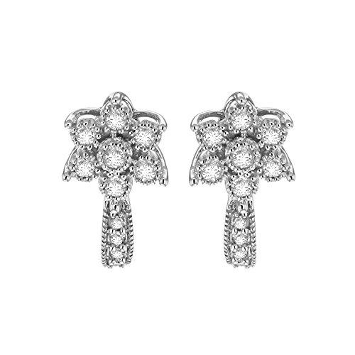 Pave Prive femme  9carats (375/1000)  Or blanc|#Gold Rond   Transparent Diamant