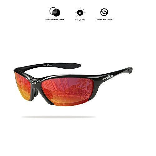 Outdoor Adult Sunglasses (Flux Unisex Polarized No Slip Outdoor Sports Sunglasses with 100% UV Protection - CA3644)
