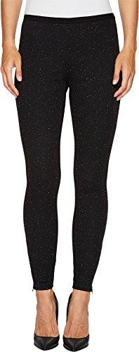 HUE Women's Tweed Loafer Skimmer, Black, Large (Black Womens Skimmer)