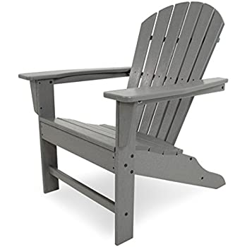 POLYWOOD SBA15GY South Beach Adirondack Chair, Slate Grey