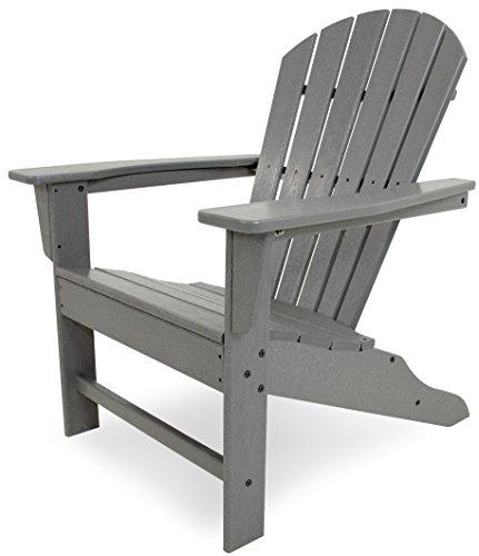 POLYWOOD SBA15GY South Beach Outdoor Adirondack Chair, Slate Grey