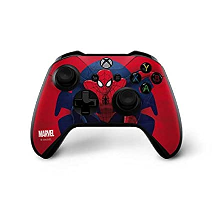 Spider-man Microsoft Xbox One X Console Controller Skin Cover Sticker Decal Faceplates, Decals & Stickers Video Game Accessories