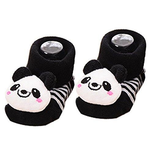 Aivtalk Unisex Baby Cute 3D Cartoon Short Sock Slipper Shoe Bootie-Panda