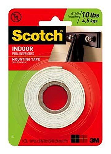 3M Scotch Heavy Duty Mounting Tape, 1-Inch by 50-Inch, 2-PACK ()