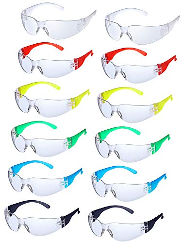 24 Pieces Protective Polycarbonate Eyewear Anti-Fog Safety Glasses Impact Resistant