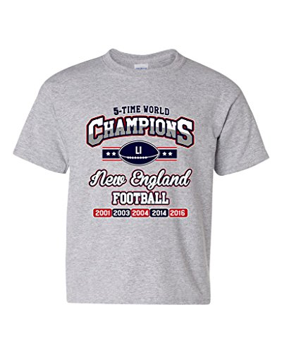 new-world-champion-5-time-new-england-football-dt-youth-kids-t-shirt-tee-medium-sports-gray