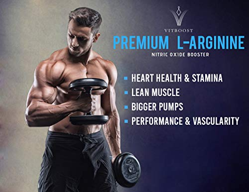 Extra Strength L Arginine 1500mg  Nitric Oxide Supplements for Stamina Muscle Vascularity  Energy