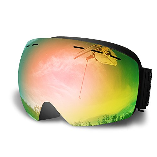 Testudo Ski Goggles Skiing Snowboard Glasses Goggles,Snow Goggles Multicolor for men women boys girls kids Snowmobile Skiing - Dirty Polarized Dog Sunglasses