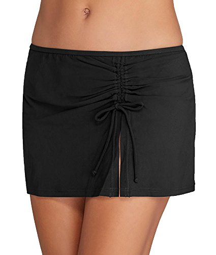 Profile by Gottex Women's Tutti Frutti Skirted Hipster Bikini Bottom Black 16 (Skirted Womens Swimwear Hipster)