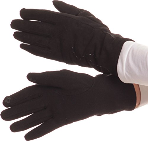Leather Gloves Without Fingers - 4
