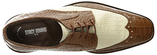 Stacy Adams Mens Giordano Wingtip Oxford Senape / Avorio