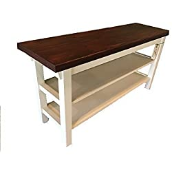 "Entryway/Kitchen / Bath Bench With Two Shoe Shelves - 12"" Depth - In Your Choice Of Color And Size 24"" To 46"""