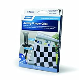 Camco 42720 Awning Hanger Clip - Pack of 8