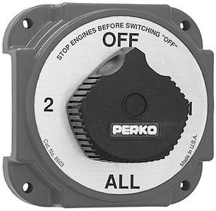 Perko 8603DP Heavy Duty Battery Selector Switch with Alte...