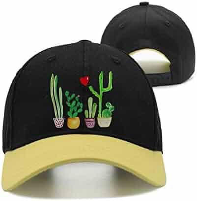 4a087c6b112ec JJIMM Love Cactus Plants Plus Flat Bill Trucker Mesh Hat Baseball Cap  Snapback