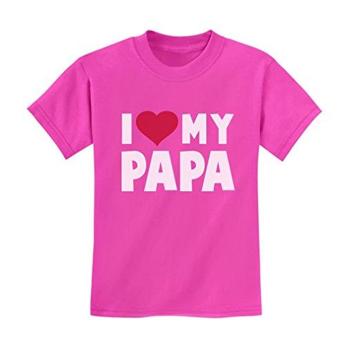 I Love Heart My Papa Children's Fathers Day/Xmas Gift Kids T-Shirt 3T - Youth Grandpa T-shirt