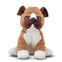 Melissa & Doug Bentley Boxer - Stuffed Animal Puppy Dog (12 inches tall)