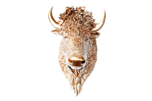 Near and Deer BIH09 Faux Taxidermy Bison Head Wall Mount, - Head Bison