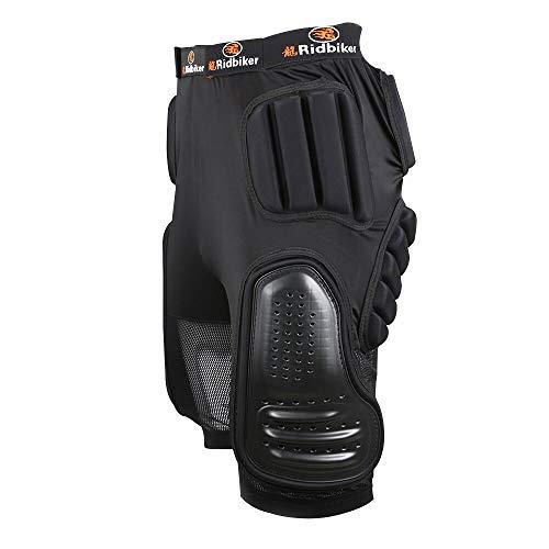 "RIDBIKER Riding Armor Pants Protective Armor Shorts for Skating Cycling Motorcycle (L(Waist:36-38"")) Black"
