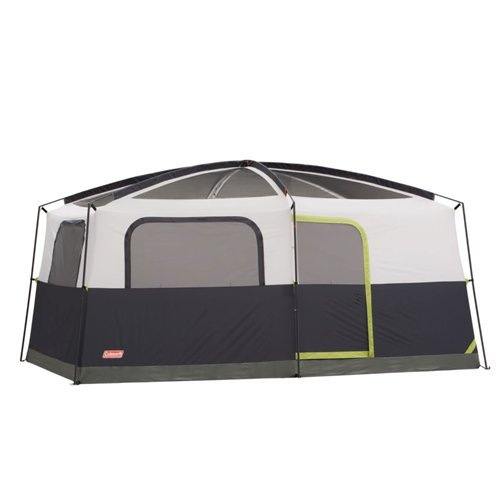 Coleman Prairie Breeze 9-Person Cabin Tent, Black and Grey Finish